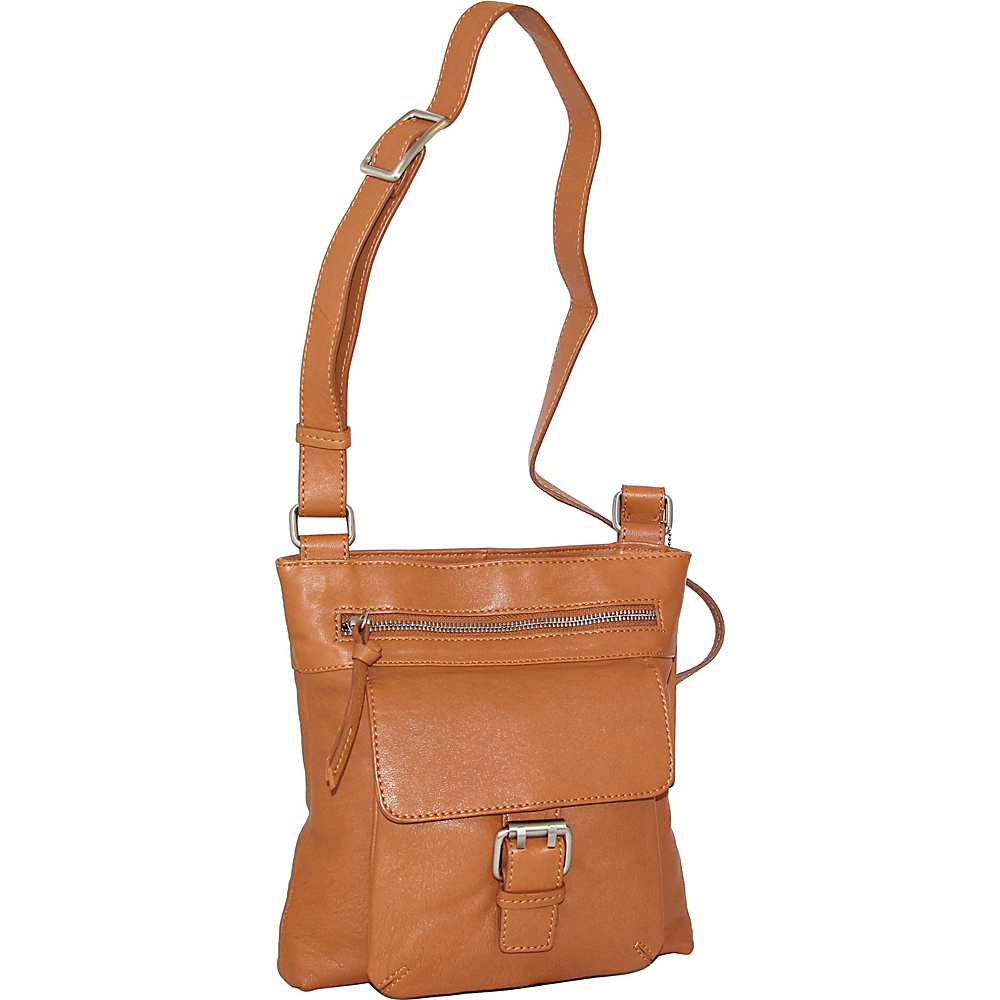 Nino Bossi Dolores Crossbody Cognac - Nino Bossi Leather Handbags - Handbags, Leather Handbags