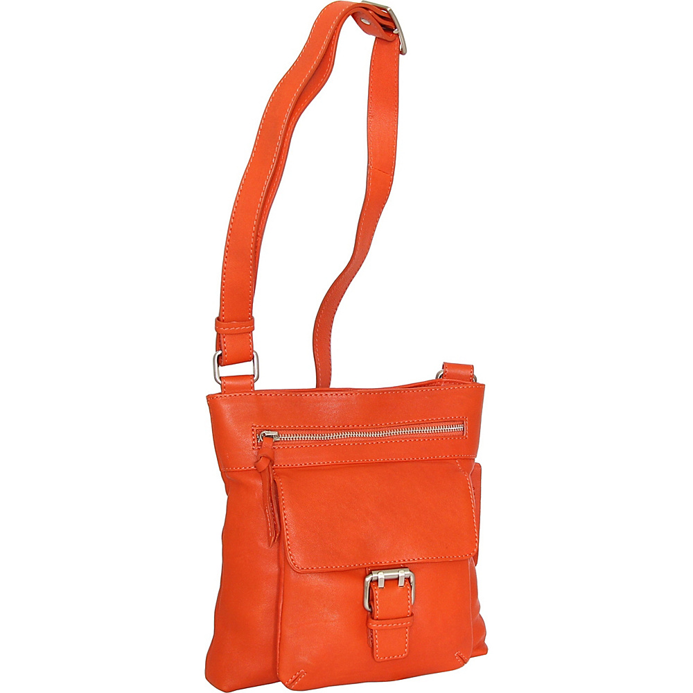 Nino Bossi Dolores Crossbody Tangerine - Nino Bossi Leather Handbags - Handbags, Leather Handbags