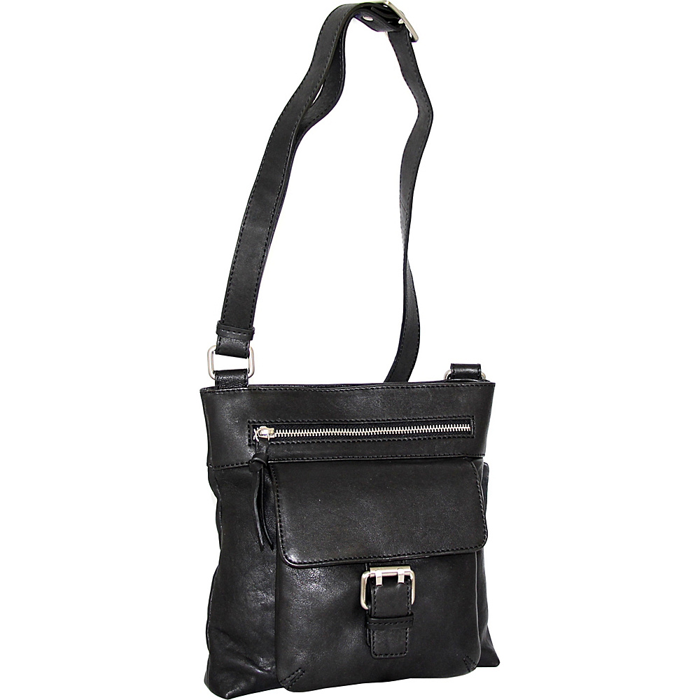 Nino Bossi Dolores Crossbody Black - Nino Bossi Leather Handbags - Handbags, Leather Handbags