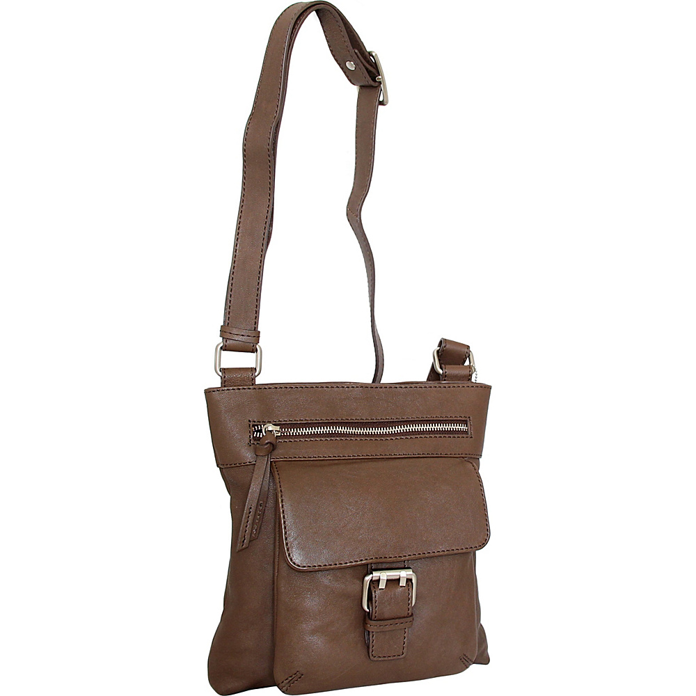 Nino Bossi Dolores Crossbody Brown - Nino Bossi Leather Handbags - Handbags, Leather Handbags