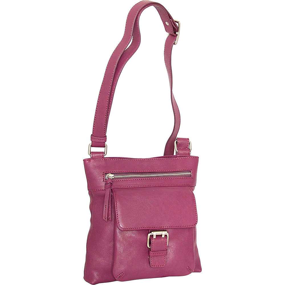 Nino Bossi Dolores Crossbody Plum - Nino Bossi Leather Handbags - Handbags, Leather Handbags