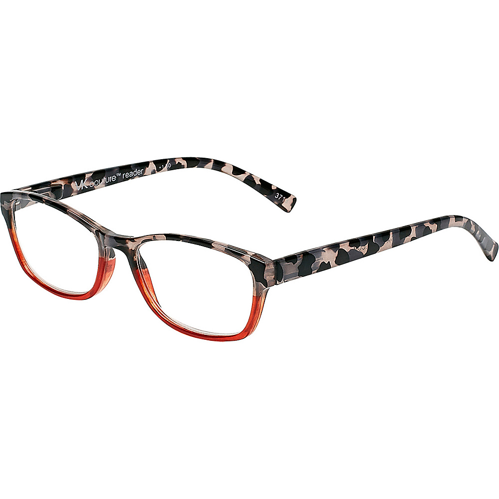 Select-A-Vision VK Couture Reading Glasses +1.25 - Red Grey Demi - Select-A-Vision Sunglasses - Fashion Accessories, Sunglasses