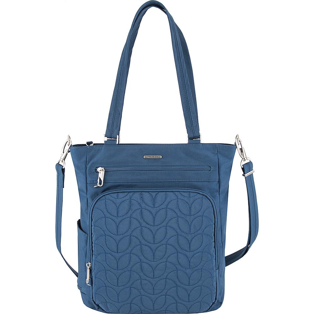 Travelon Anti-Theft Quilted Tote - Exclusive Ocean/Teal Interior - Travelon Fabric Handbags - Handbags, Fabric Handbags