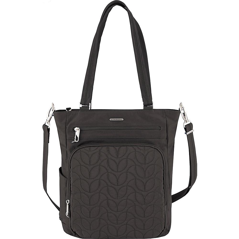 Travelon Anti-Theft Quilted Tote - Exclusive Black/Dark Emerald Interior - Travelon Fabric Handbags - Handbags, Fabric Handbags