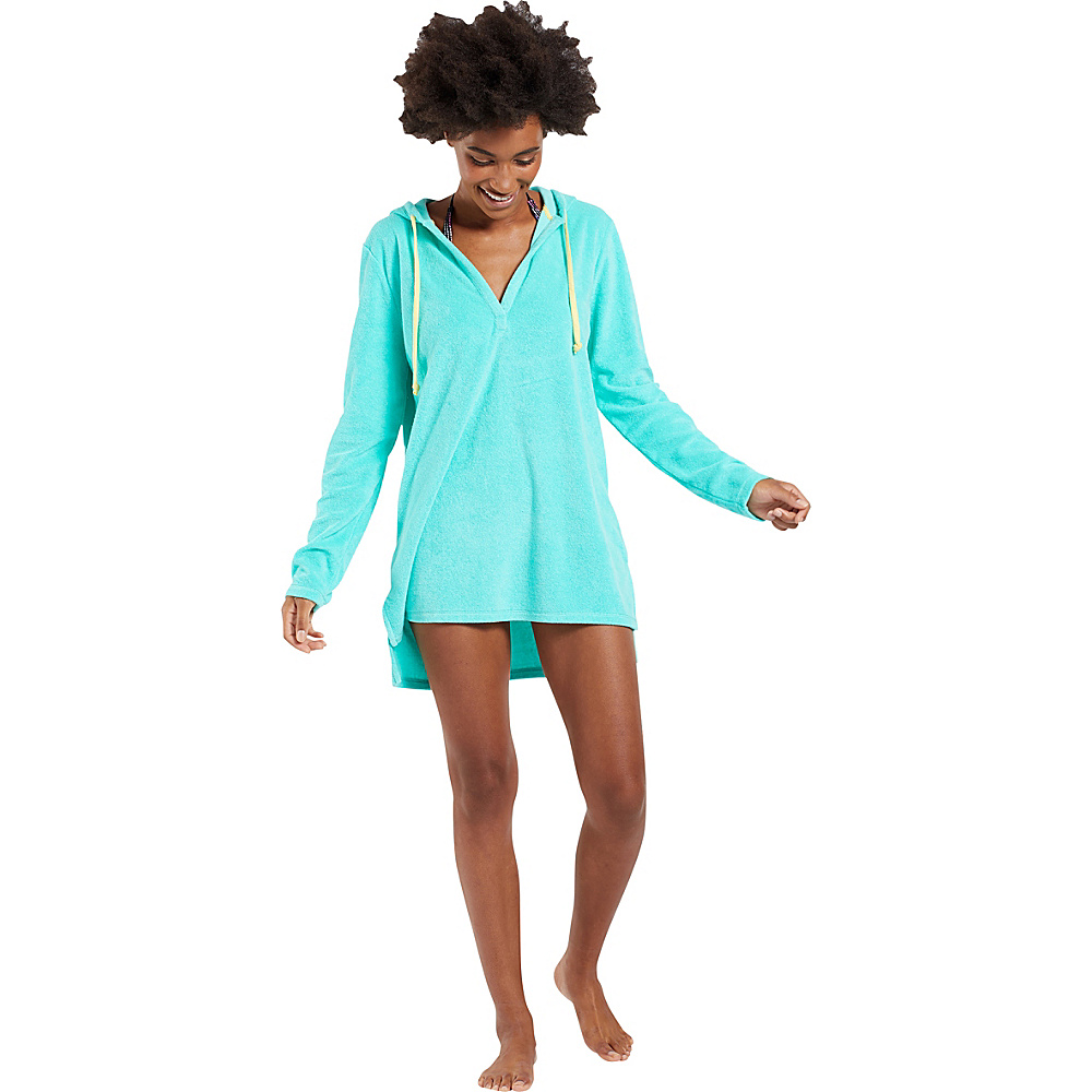 Life is good Terry Beach Cover Up XS - Cool Aqua - Life is good Womens Apparel - Apparel & Footwear, Women's Apparel
