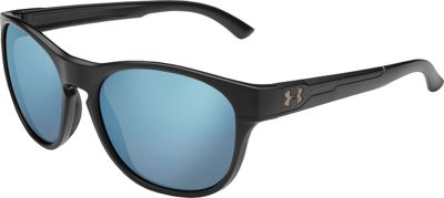 Under Armour Eyewear Glimpse Rl Sunglasses Satin Black/Blue Mirror - Under Armour Eyewear Sunglasses