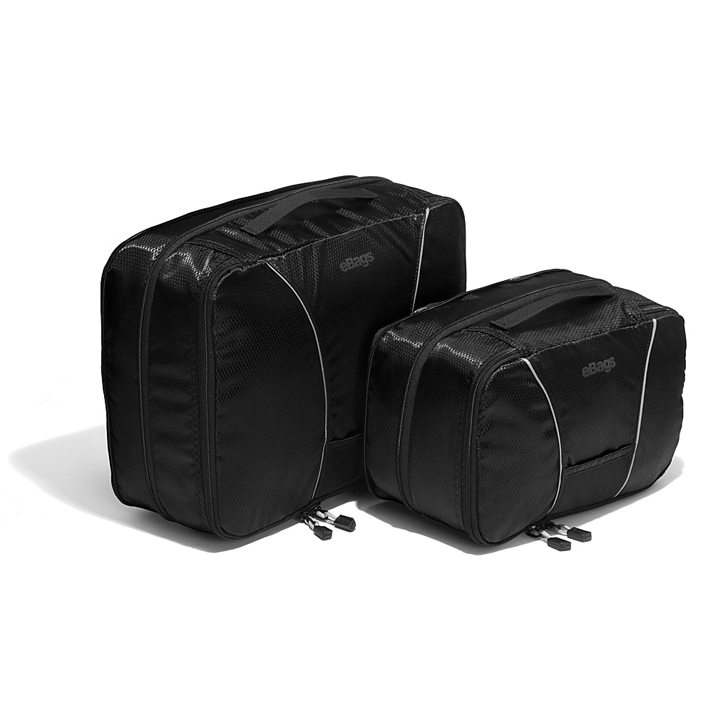 eBags Classic 2pc Compression Cubes Black - eBags Packing Aids