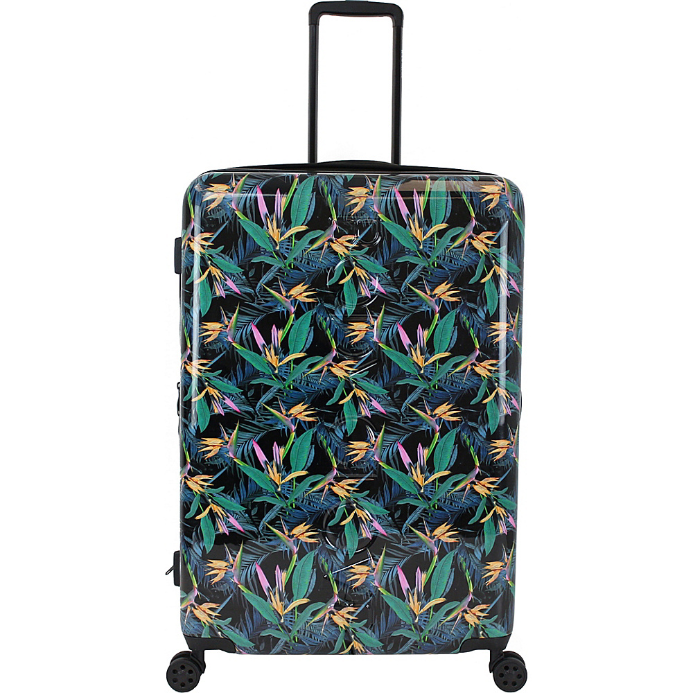 BODY GLOVE Long Lat Paradise 29″ Hardside Debossed Checked Spinner Luggage Black – BODY GLOVE Long Lat Hardside Checked