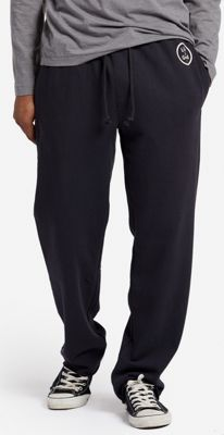 Life is good Mens French Terry Lounge Pant S - Night Black - Life is good Men's Apparel