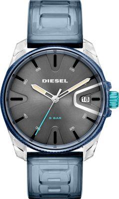Diesel Watches Men's MS9 Three-Hand Blue Silicone Watch B...