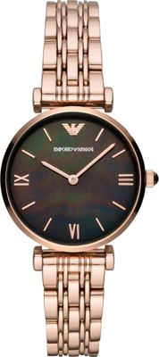 Emporio Armani Women's Two-Hand Rose Gold-Tone Stainless ...