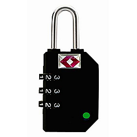 Travel Sentry Indicator® TSA Recognized Combination Lock Black