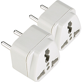 Europe/Asia Adapter Plug - set of 2 As Shown