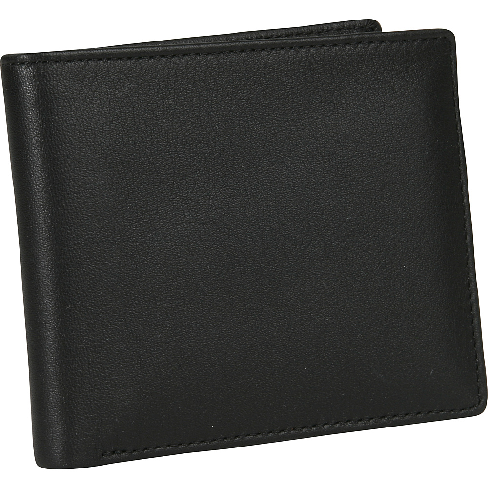 Royce Leather Mens Two-Fold W/Double Id Flap - Black - Work Bags & Briefcases, Men's Wallets