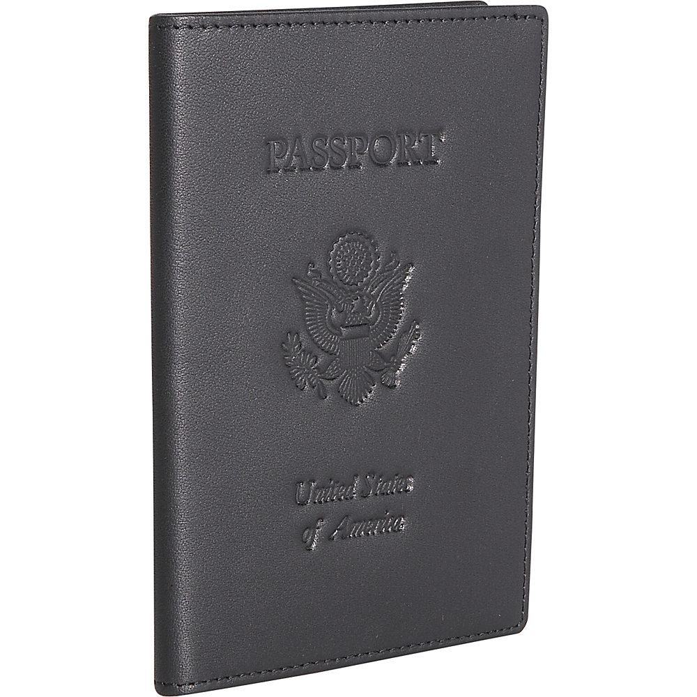 Royce Leather Leather Passport Jacket - Black - Travel Accessories, Travel Wallets
