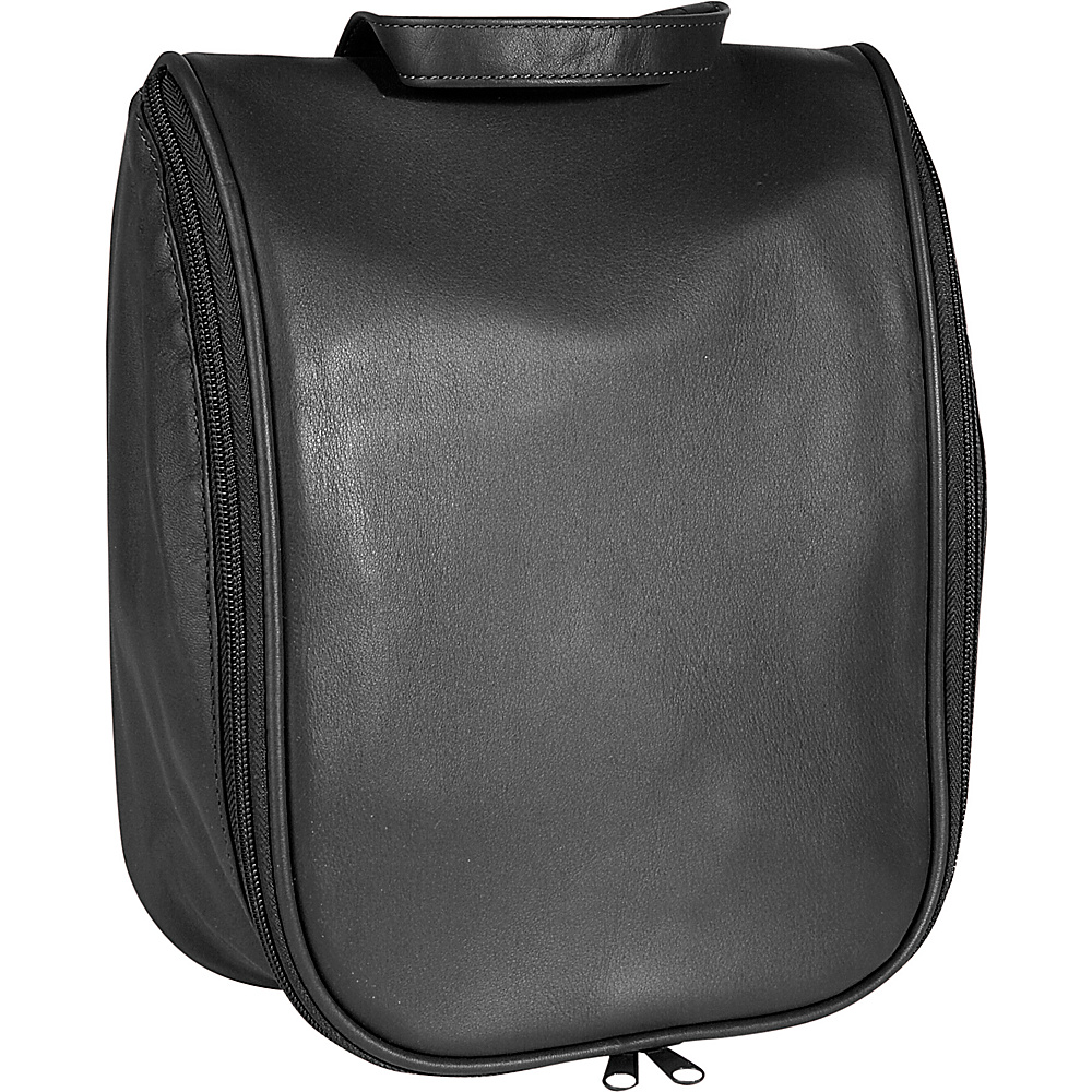 Royce Leather Toiletry Bag w/Removable Pouch - Black - Travel Accessories, Toiletry Kits