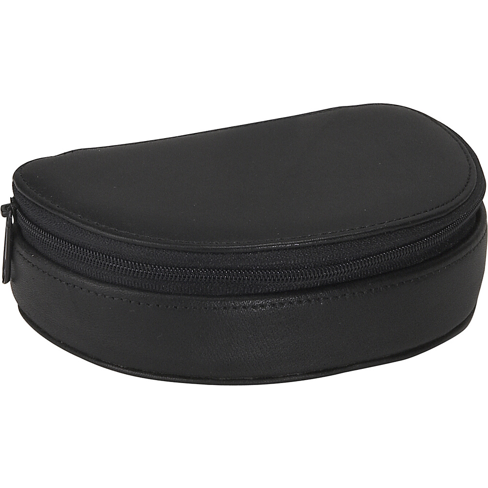 Royce Leather Mini Jewelry Case - Black - Travel Accessories, Travel Organizers