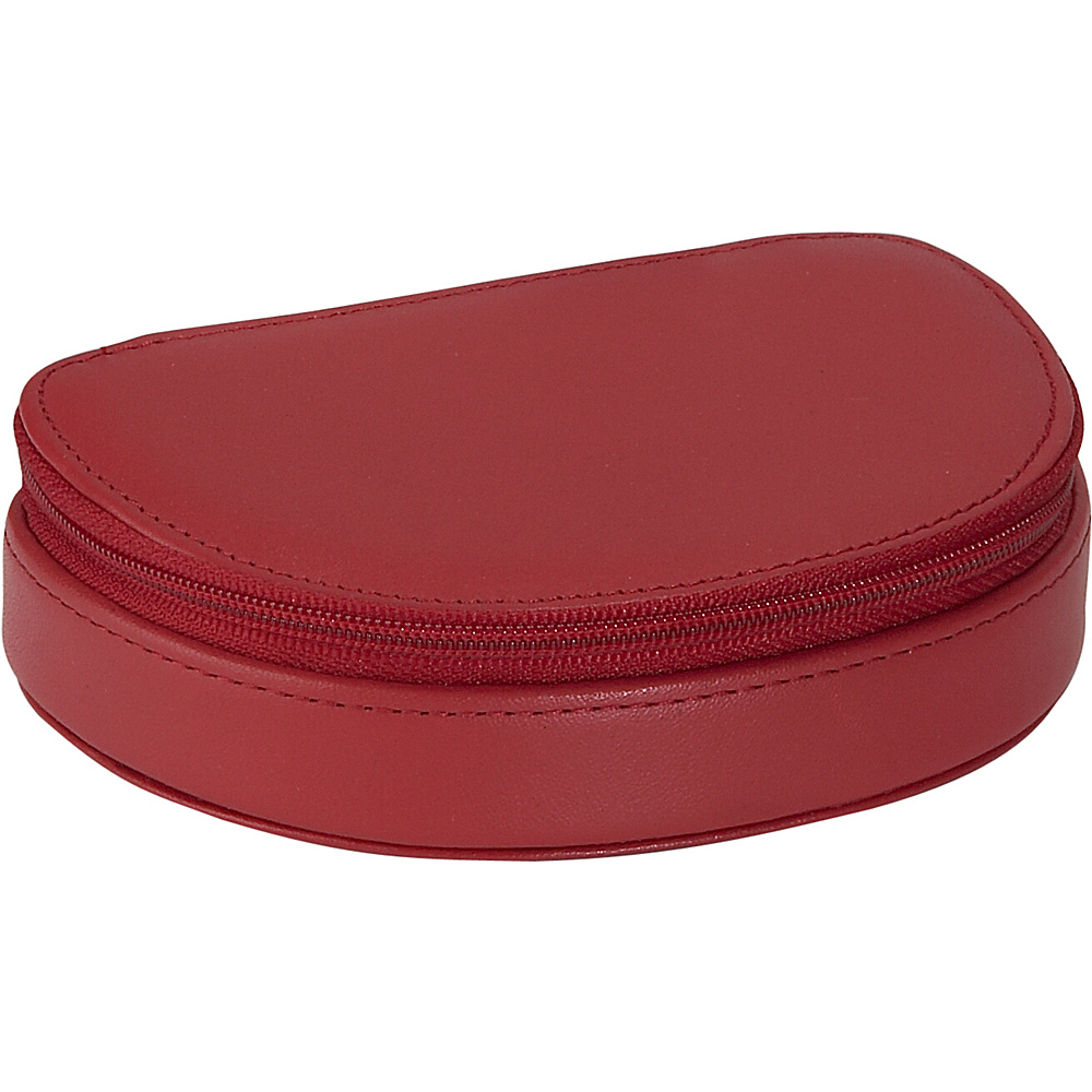 Royce Leather Mini Jewelry Case - Red - Travel Accessories, Travel Organizers