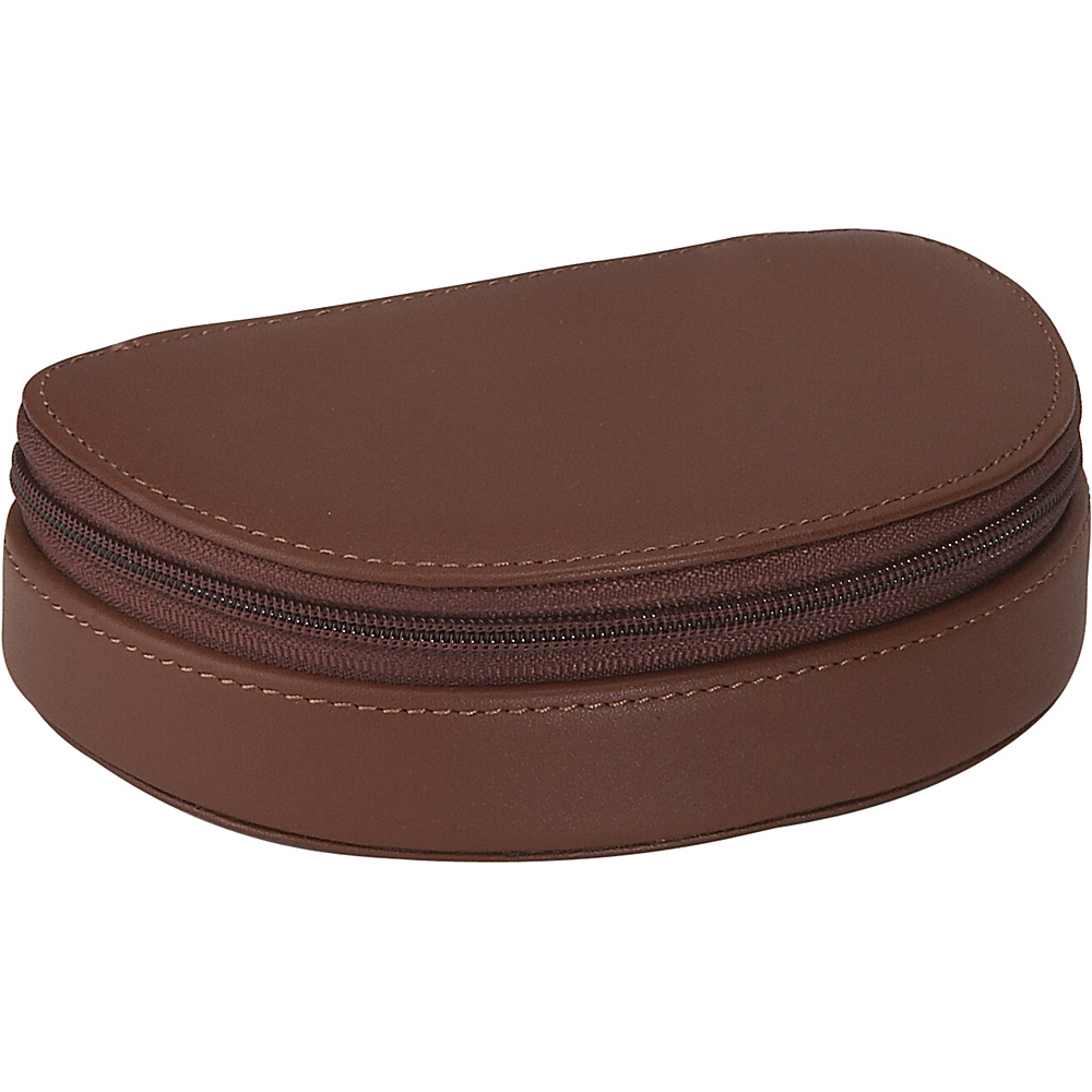 Royce Leather Mini Jewelry Case - Tan - Travel Accessories, Travel Organizers