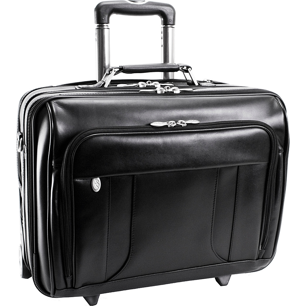 McKlein USA Lasalle Leather 17 Wheeled Laptop - Work Bags & Briefcases, Wheeled Business Cases