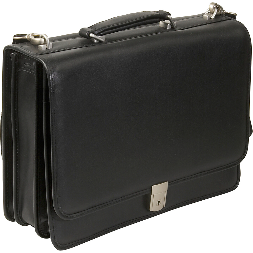 McKlein USA River North Leather 17 Laptop Case - Black - Work Bags & Briefcases, Non-Wheeled Business Cases