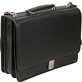 River North Leather 17'' Laptop Case Black