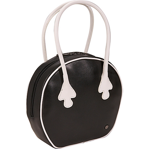 Bisadora Leather Bowling Bag - Black