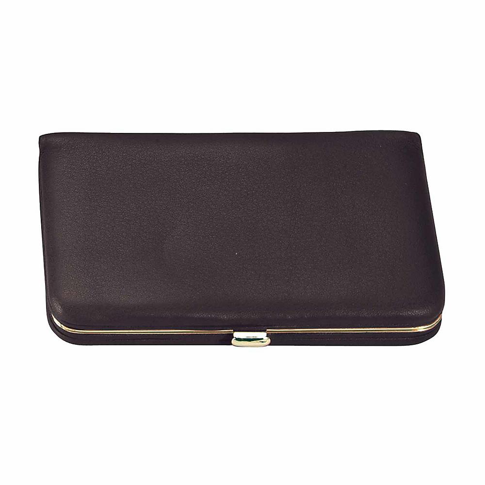 Royce Leather Framed Business Card Wallet - Black - Women's SLG, Women's Wallets