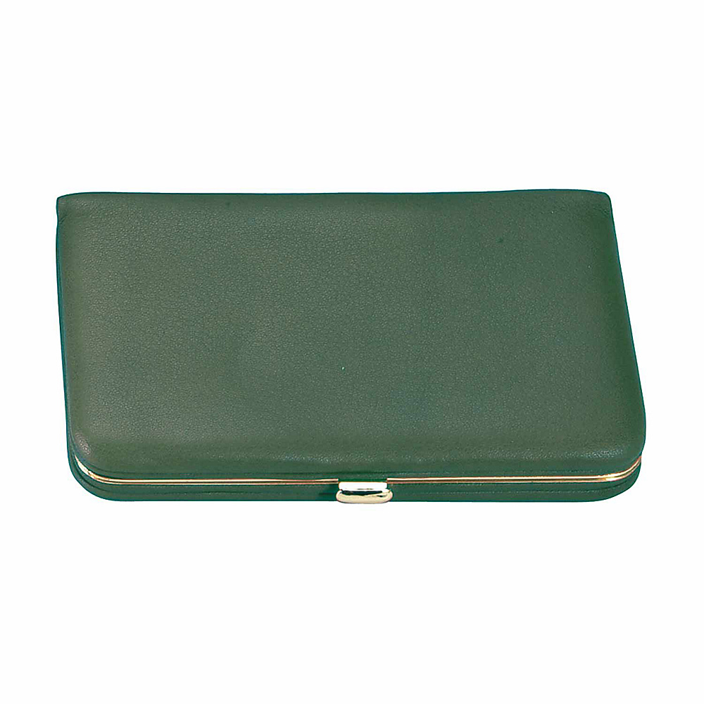 Royce Leather Framed Business Card Wallet - Green - Women's SLG, Women's Wallets
