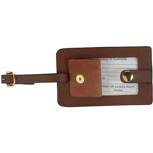 Royce Leather Snap Luggage Tag - Coco