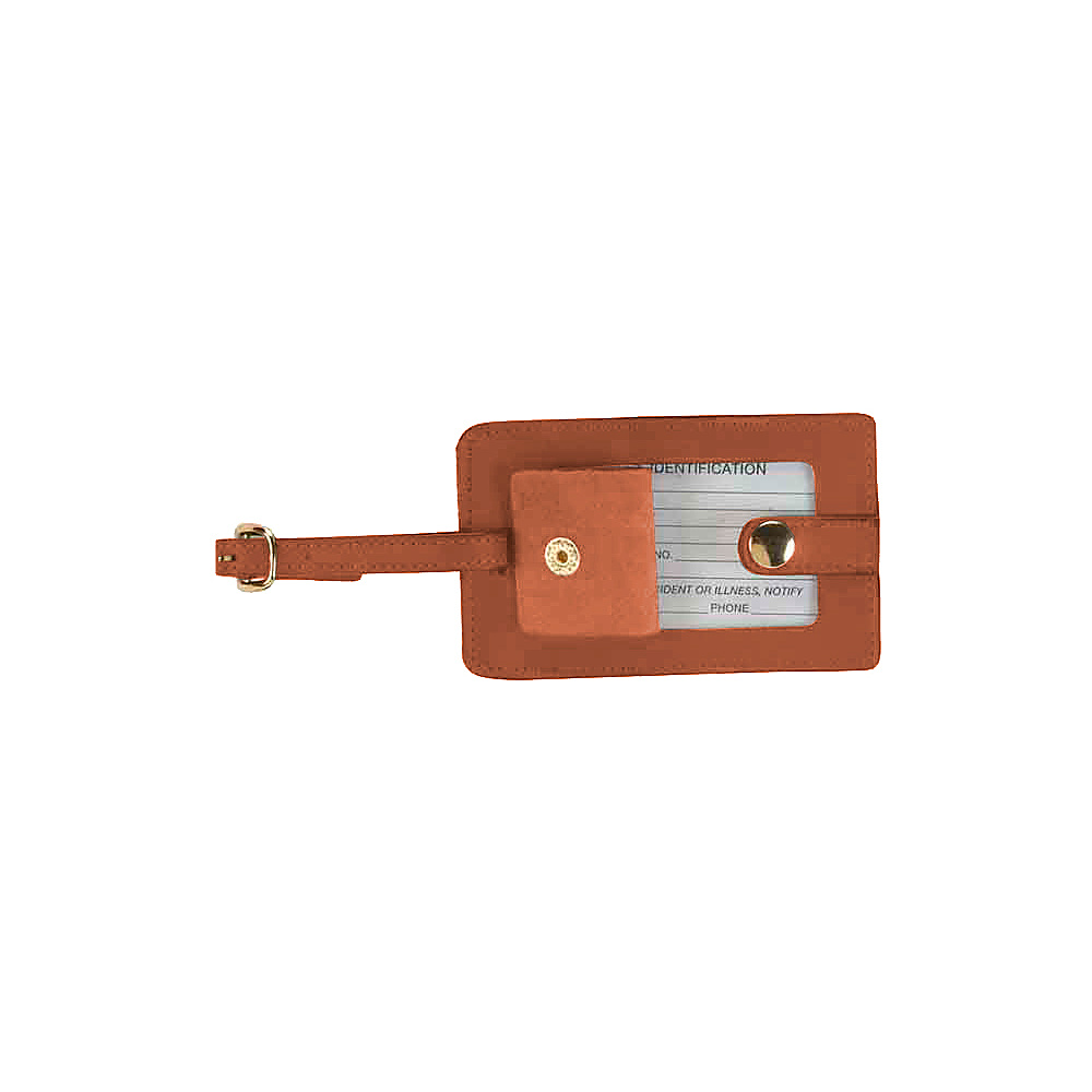 Royce Leather Snap Luggage Tag - Tan - Travel Accessories, Luggage Accessories