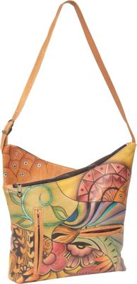 Anuschka V-Top Hobo Patchwork Garden - Anuschka Leather Handbags