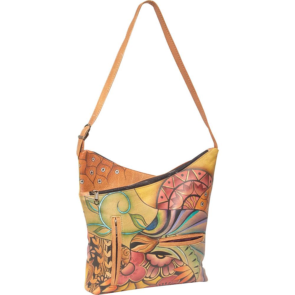 Anuschka V-Top Hobo Patchwork Garden - Anuschka Leather Handbags