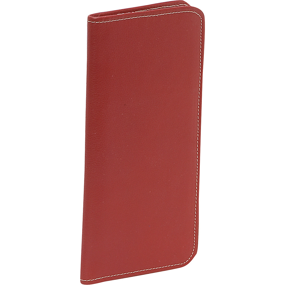 Piel Passport/Ticket Holder Red - Piel Travel Wallets - Travel Accessories, Travel Wallets