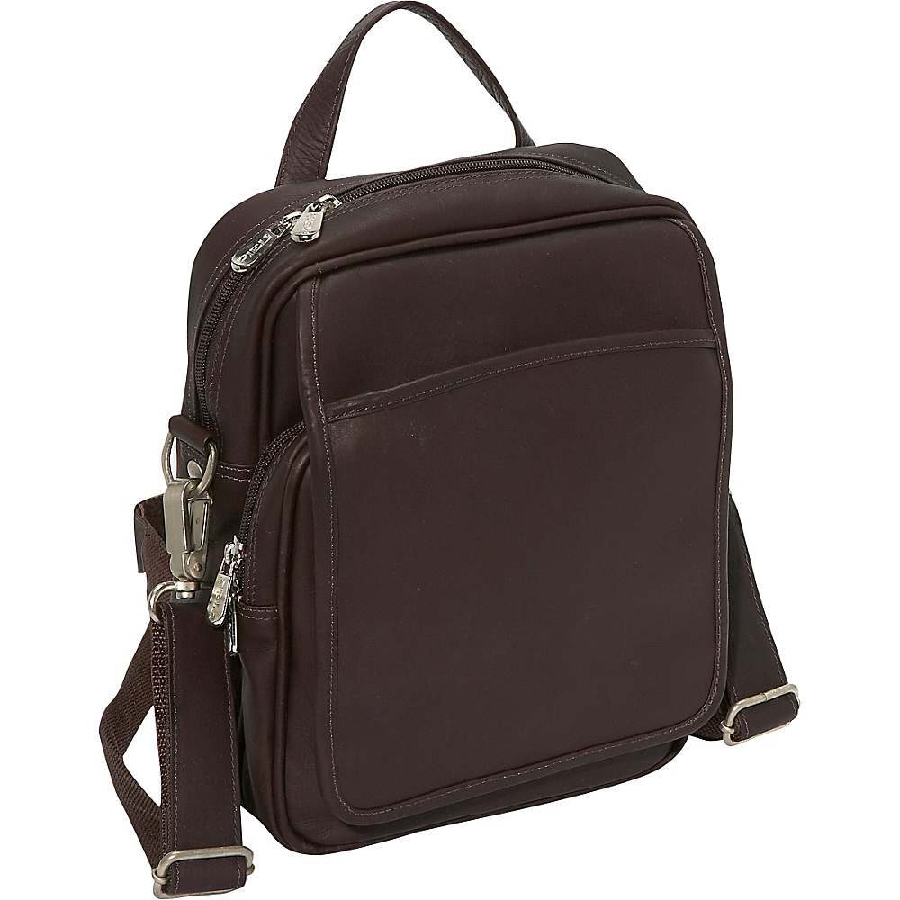 Piel Travelers Mens Bag - Chocolate - Work Bags & Briefcases, Other Men's Bags