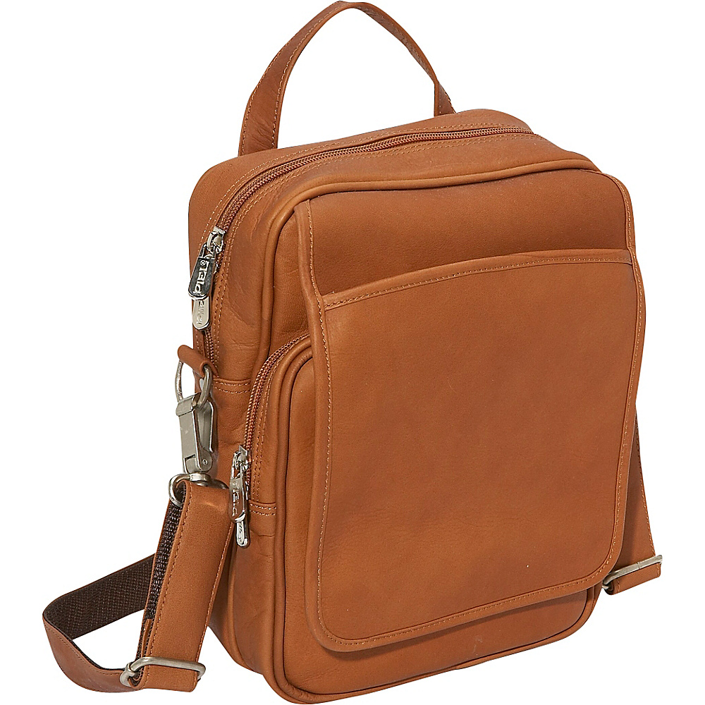 Piel Travelers Mens Bag - Saddle - Work Bags & Briefcases, Other Men's Bags