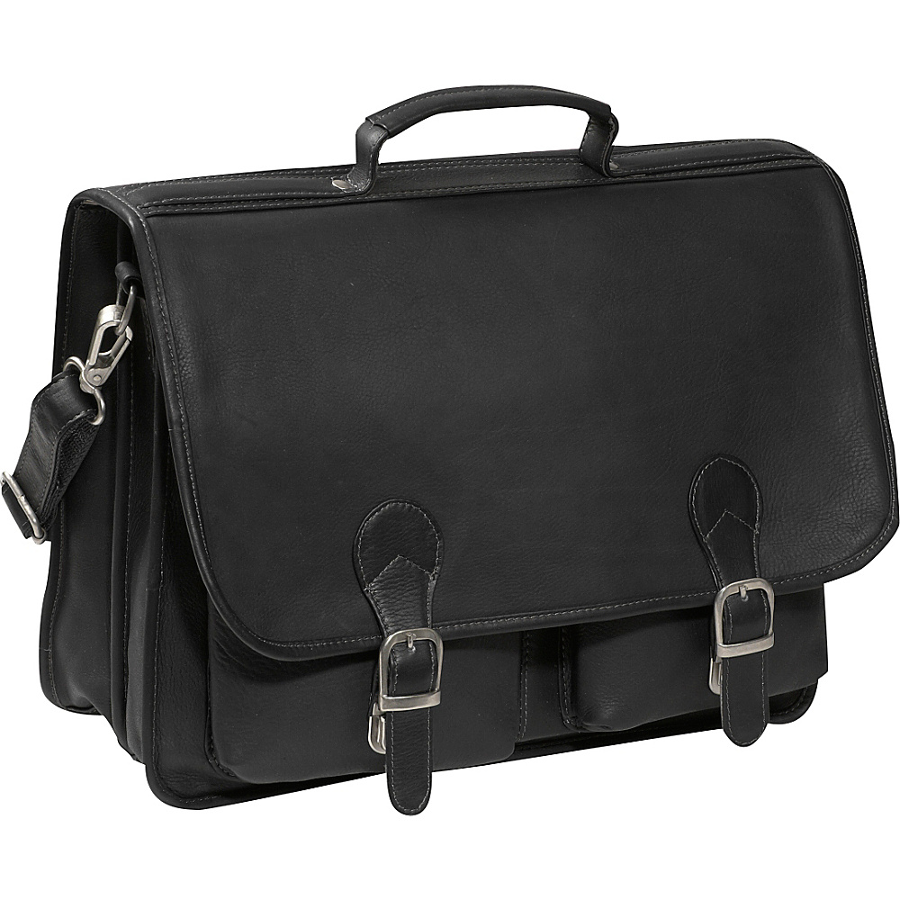 Piel Executive Two Pocket Portfolio - Black - Work Bags & Briefcases, Non-Wheeled Business Cases