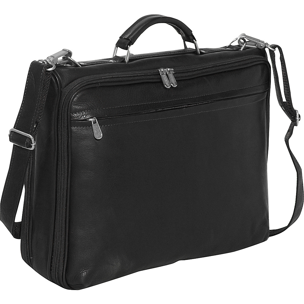 Piel Double Executive Computer Bag - Black - Work Bags & Briefcases, Non-Wheeled Business Cases