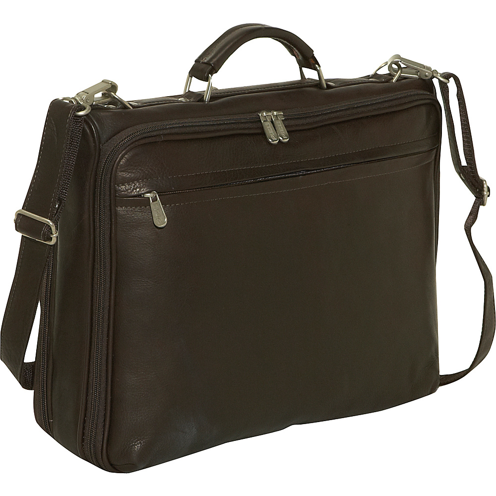 Piel Double Executive Computer Bag - Chocolate - Work Bags & Briefcases, Non-Wheeled Business Cases