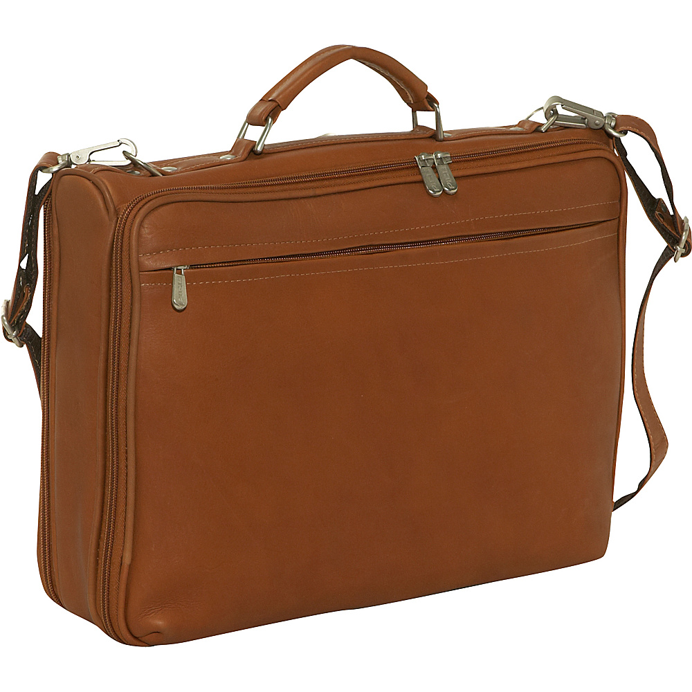 Piel Double Executive Computer Bag - Saddle - Work Bags & Briefcases, Non-Wheeled Business Cases
