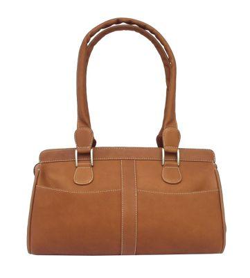Piel Double Handle Handbag - Saddle