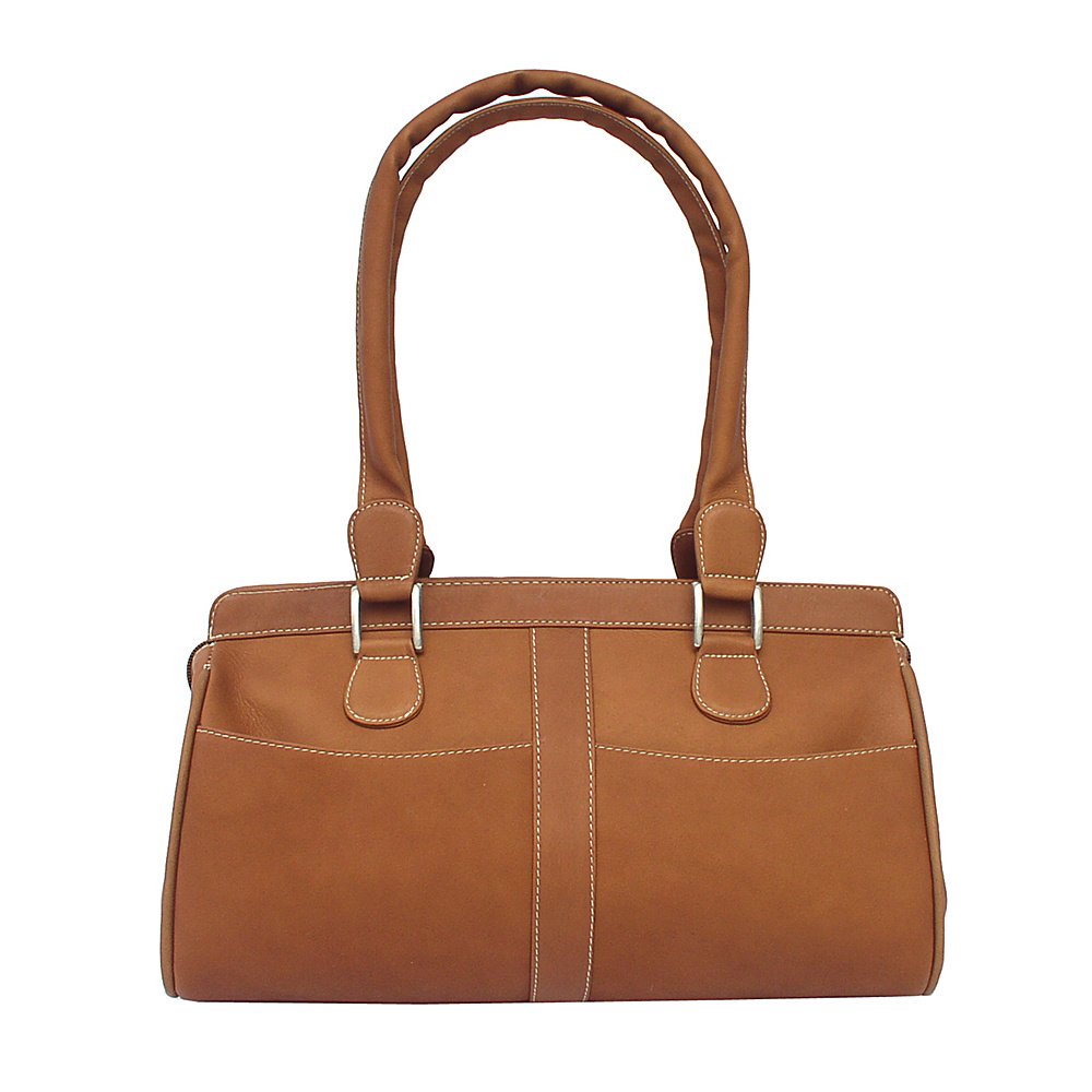 Piel Double Handle Handbag - Saddle - Handbags, Leather Handbags