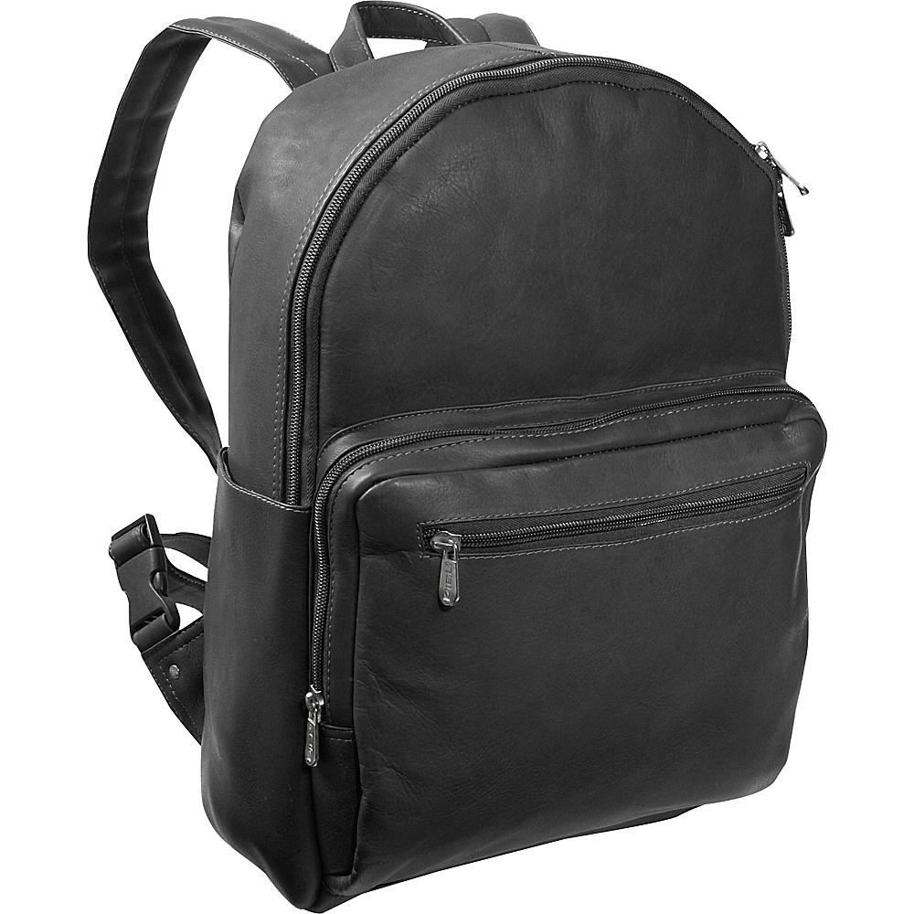 Piel Traditional Backpack - Black - Handbags, Leather Handbags