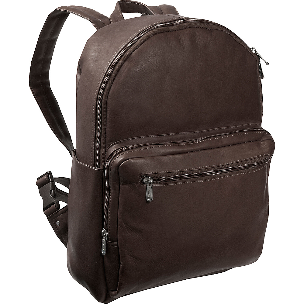 Piel Traditional Backpack - Chocolate - Handbags, Leather Handbags
