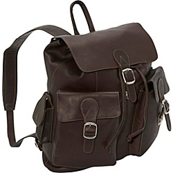 Piel Large Buckle Flap Backpack Purse