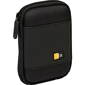 Compact Portable Hard Drive Case  Black