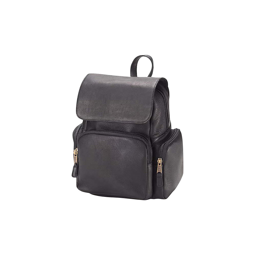 Clava Mid-Size Multi Pocket Backpack - Vachetta Black - Handbags, Leather Handbags