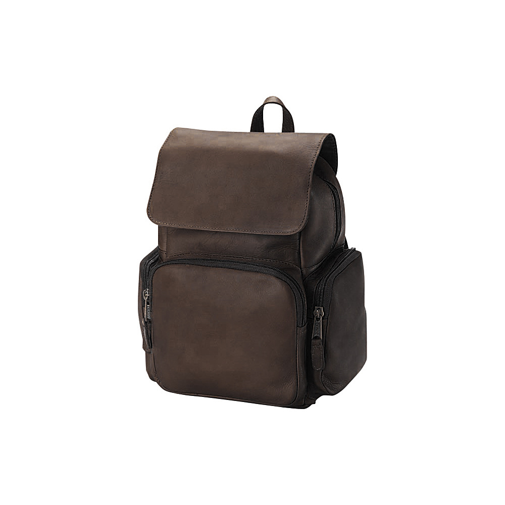 Clava Mid-Size Multi Pocket Backpack - Vachetta Cafe - Handbags, Leather Handbags