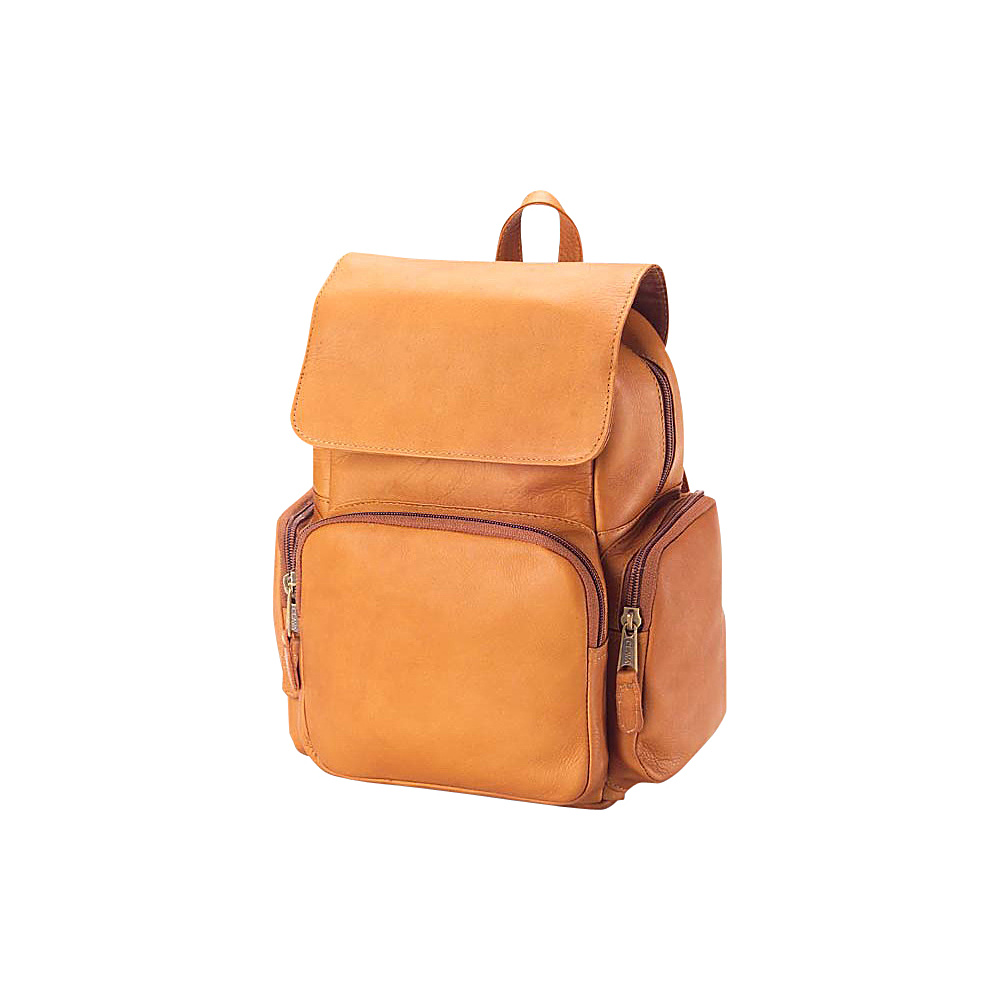 Clava Mid-Size Multi Pocket Backpack - Vachetta Tan - Handbags, Leather Handbags
