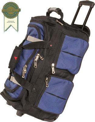 "Image of Athalon 15-Pocket 22"" Wheeling Duffel - Blue w/ Black"